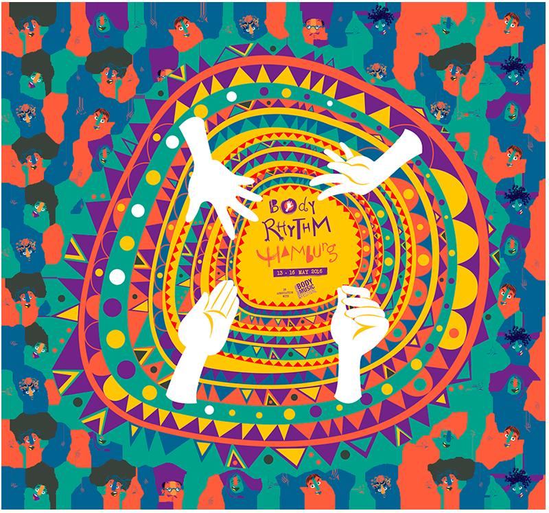 Creation of visual identity for Body Rhythm Hamburg (in association with International Body Rhythm Festival). Client: Body Rhythm Hamburg  Hamburg, Germany (2016)