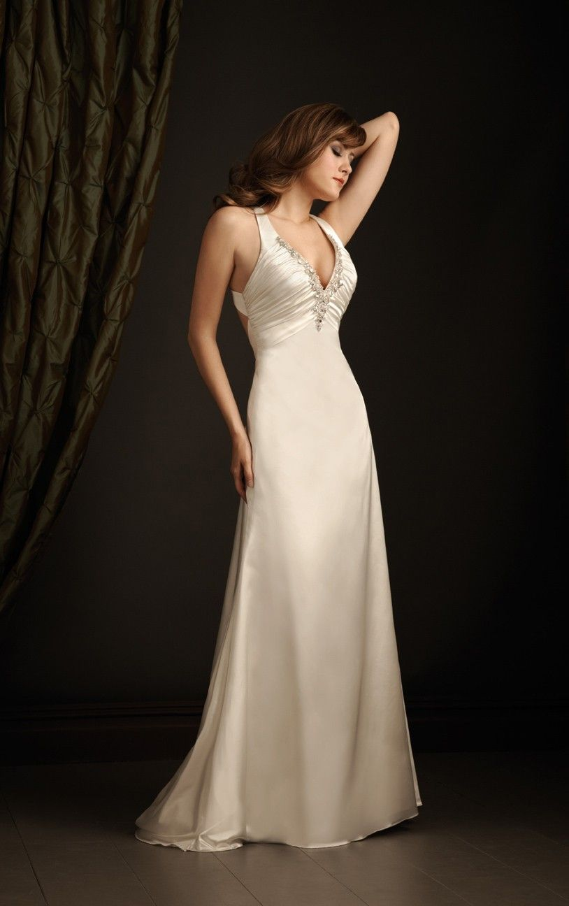 Cheapdressessales simple sheath floorlength halter champagne