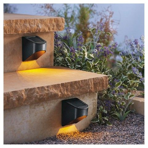 Hampton bay outdoor black solar powered downcast deck light offers a traditional style to your patio and deck