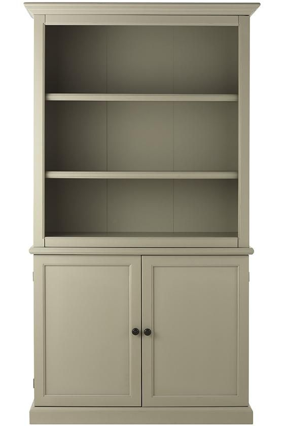 Martha Living Ingrid Bookcase Open Tall With Doors Bookcases