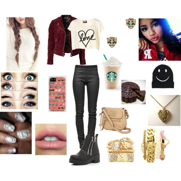 Starbucks with Zendaya by iluv1d39 on Polyvore featuring Illustrated People Jofama Rick Owens ...