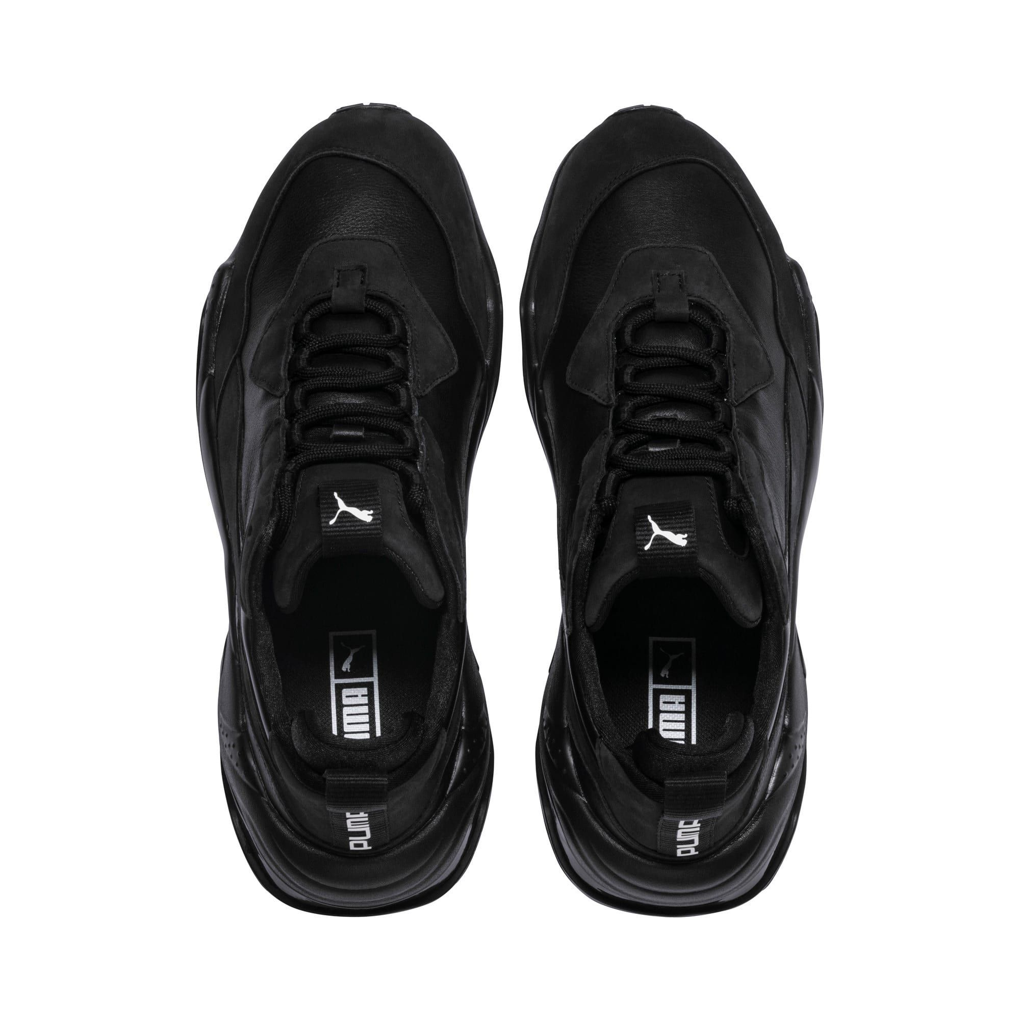 PUMA Thunder Leather Trainers in Black