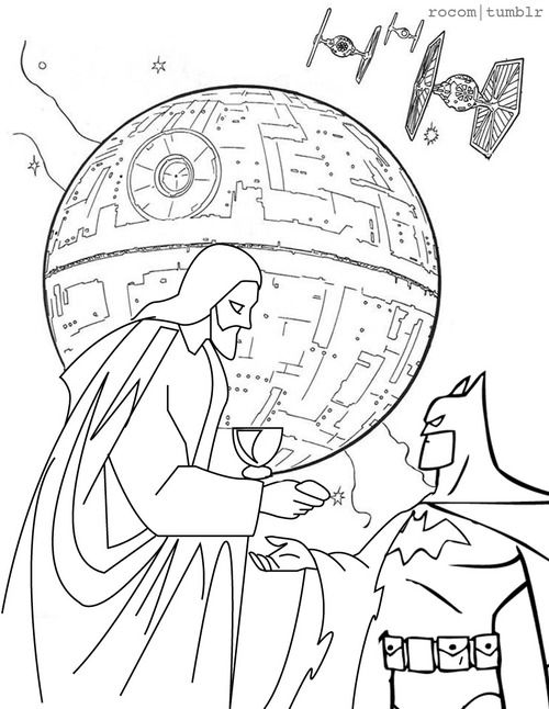 Oh no Jesus and Batman team up to take down the Death Star