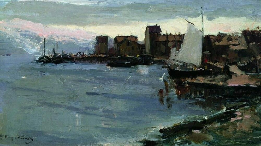 Konstantin Alekseevich Korovin, Harbor in Norway, 1894