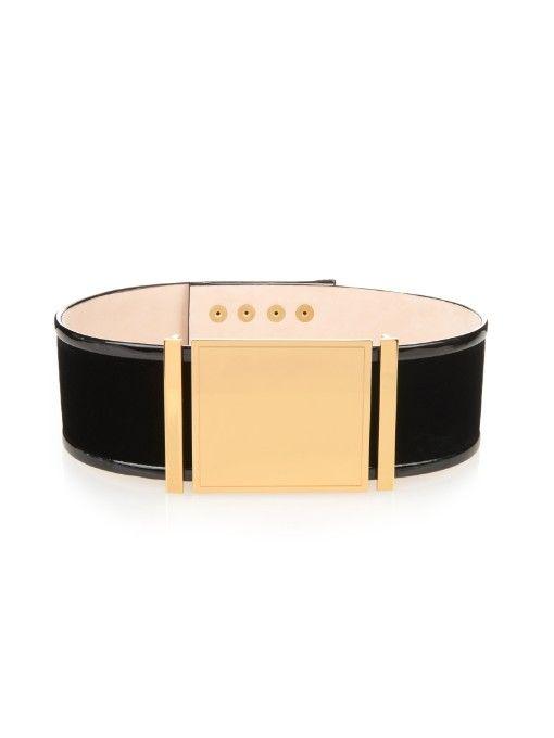 Balmain Wide velvet belt