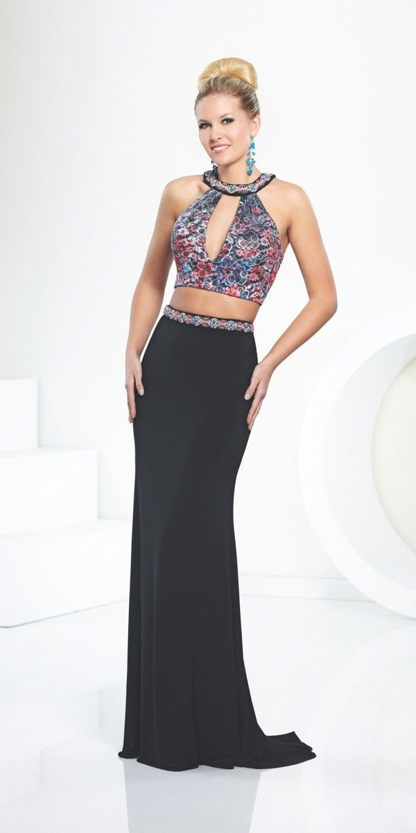 e898a1b7192e Gorgeous High Neck Prom Dress 116710 Tony Bowls, Jersey Skirt, Glamour, Lace  Crop