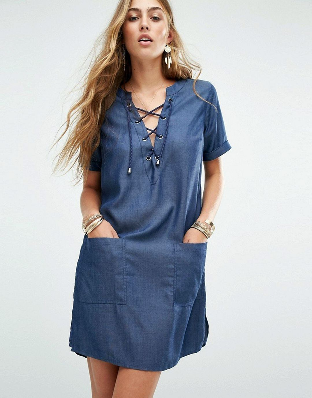 15 Beautiful Design For Casual Denim Dress That You Must Try In This Summer Fashions Nowadays Denim Dress Fashion Casual Denim Dress [ 1378 x 1080 Pixel ]