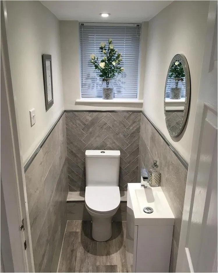 30 Elegant Small Bathroom Decorating Ideas Small Toilet Room Small Bathroom Makeover Toilet Room Decor