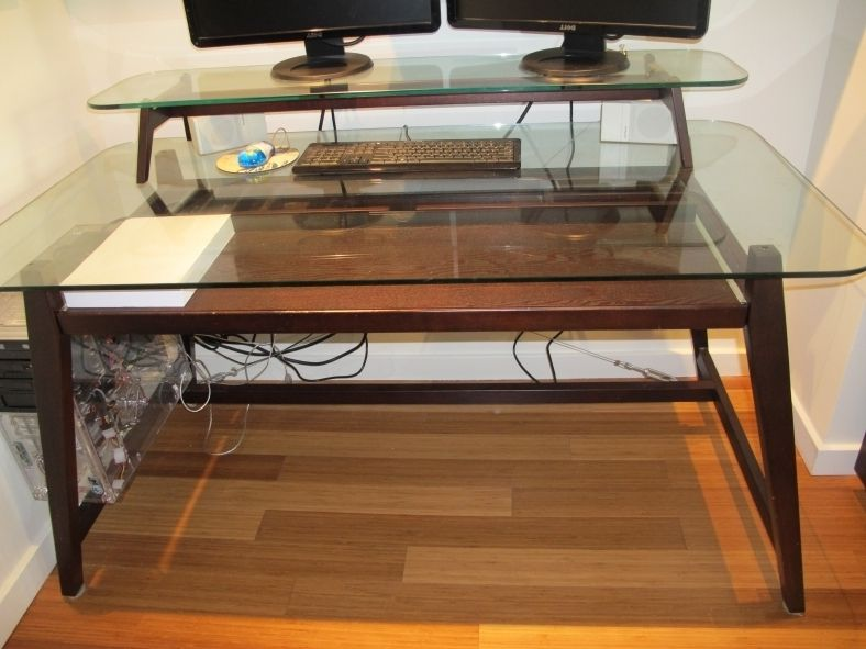 The Awesome Wood Desk Glass Top For Your Reference In 2020 Wood Computer Desk Glass Desk Office Glass Computer Desks