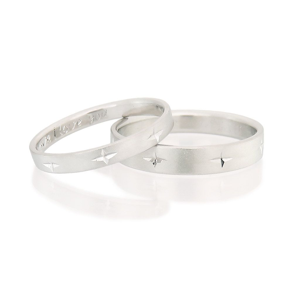 Wedding Rings Set, His & Hers Wedding Bands, Couples Wedding Rings,  Matching Wedding
