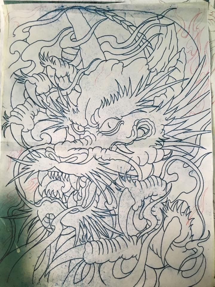 Pin de Công Nguyễn en Hình xăm   Pinterest   Dragones, Japon y Tatoo