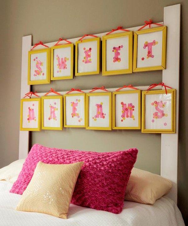 vibrant idea yellow picture frames. headboards diy  DIY Headboard Pictures or Photo Frames kids