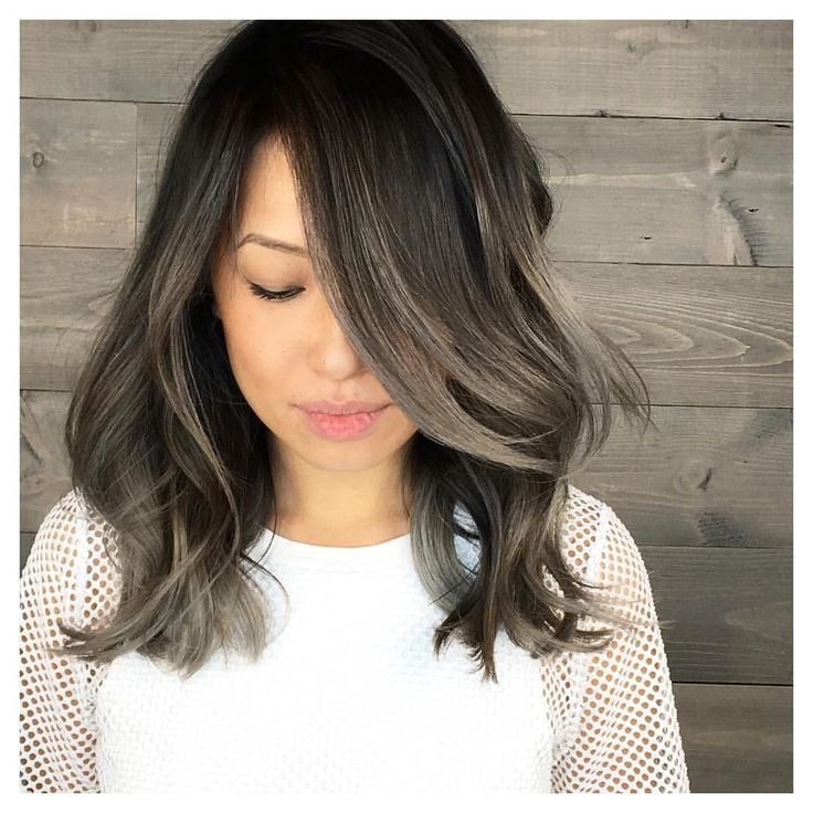 Image Result For Ash Highlights On Black Hair Hair Possibilities