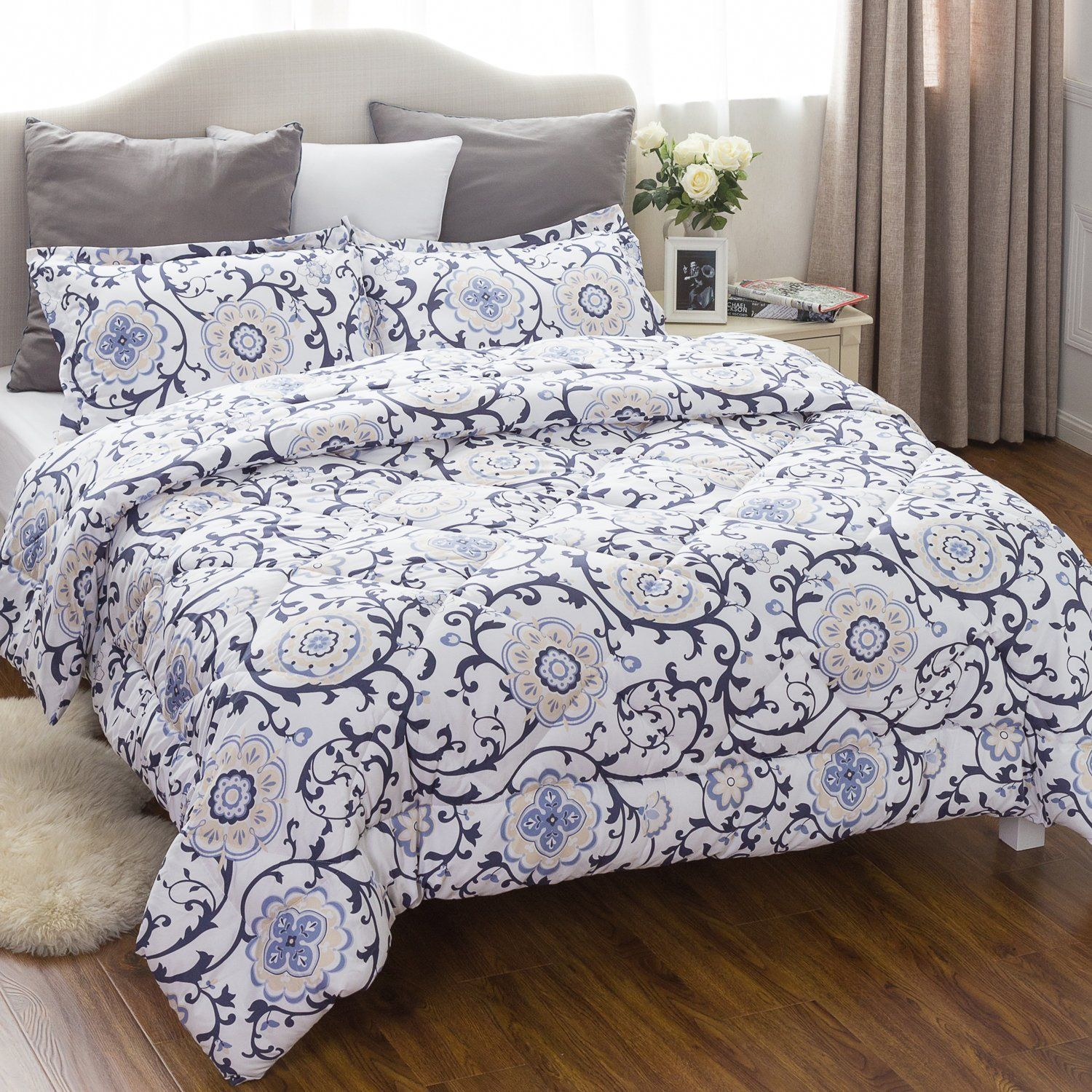 sets hampton kitchen comforter amazon plum king park home piece queen set dp madison com