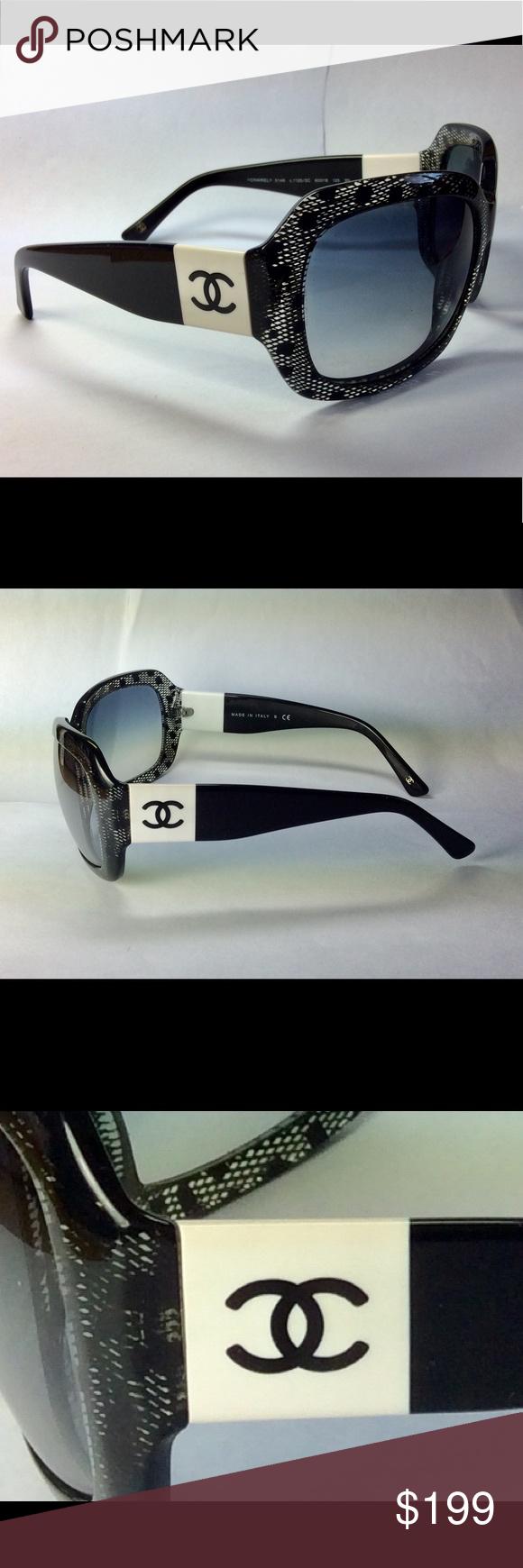 fa6ff8ade6f6 CHANEL BLACK LACE SUNGLASSES AND CASE - 5146 Chanel Sunglasses - 5146 -  Beautiful black and
