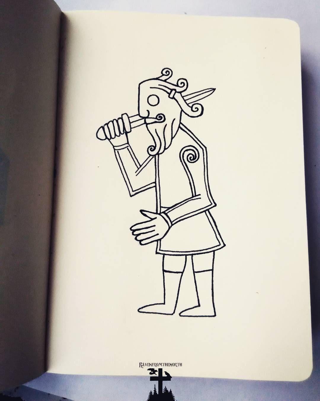 Ust A Simple Viking Man Drawing Drawing Sketching Doodling