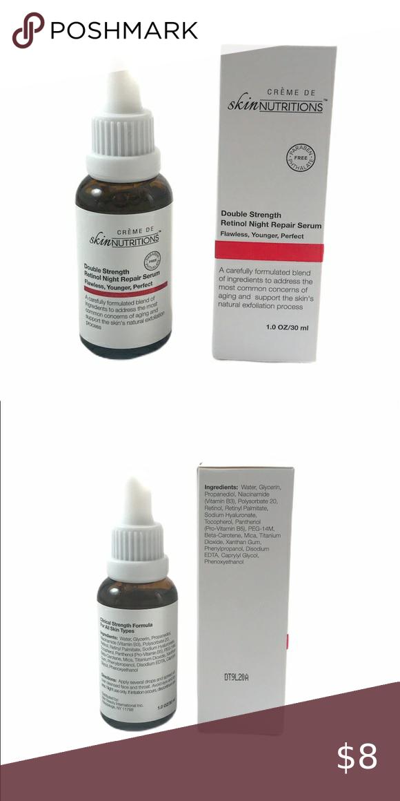 Skin Nutritions Double Strength Retinol Night Repair Serum : nutritions, double, strength, retinol, night, repair, serum, ⤵️❤4/, Double, Strength, Retinol, Night, Repair, Retinol,, Nutrition,, Paraben, Products