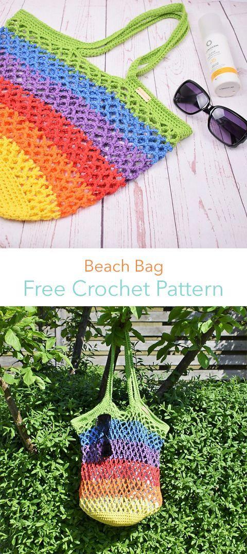 Beach Bag Free Crochet Pattern | Free pattern in 2018 | Pinterest