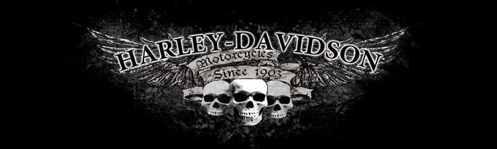 Extra large harley davidson decals harley davidson triple skull rear window graphic