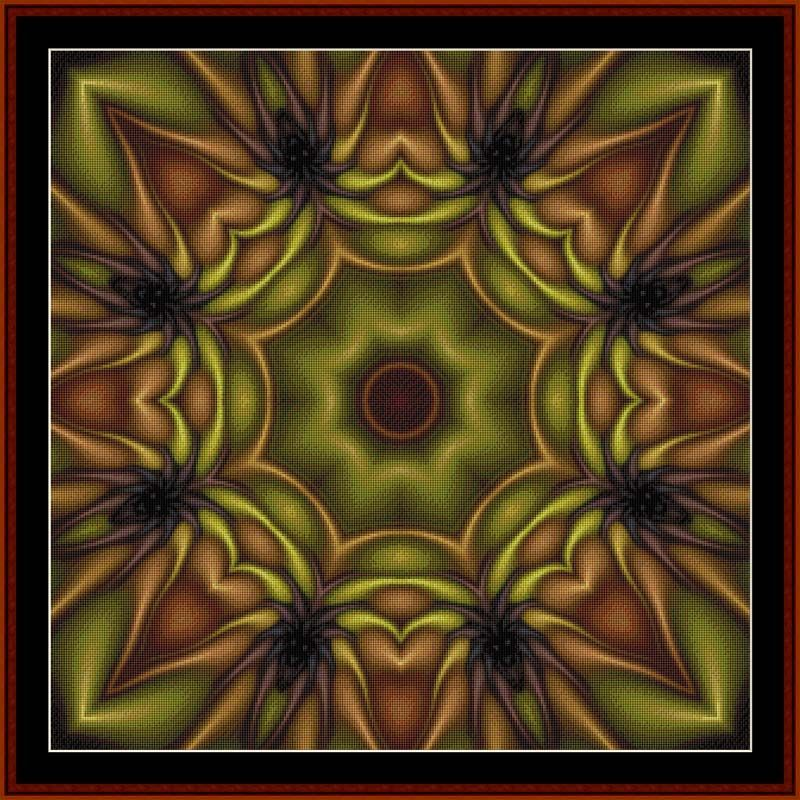 FR-478 - Fractal 478 - All cross stitch patterns - Abstract - Fractals - Graphic Art - - Whimsical - Cross Stitch Collectibles