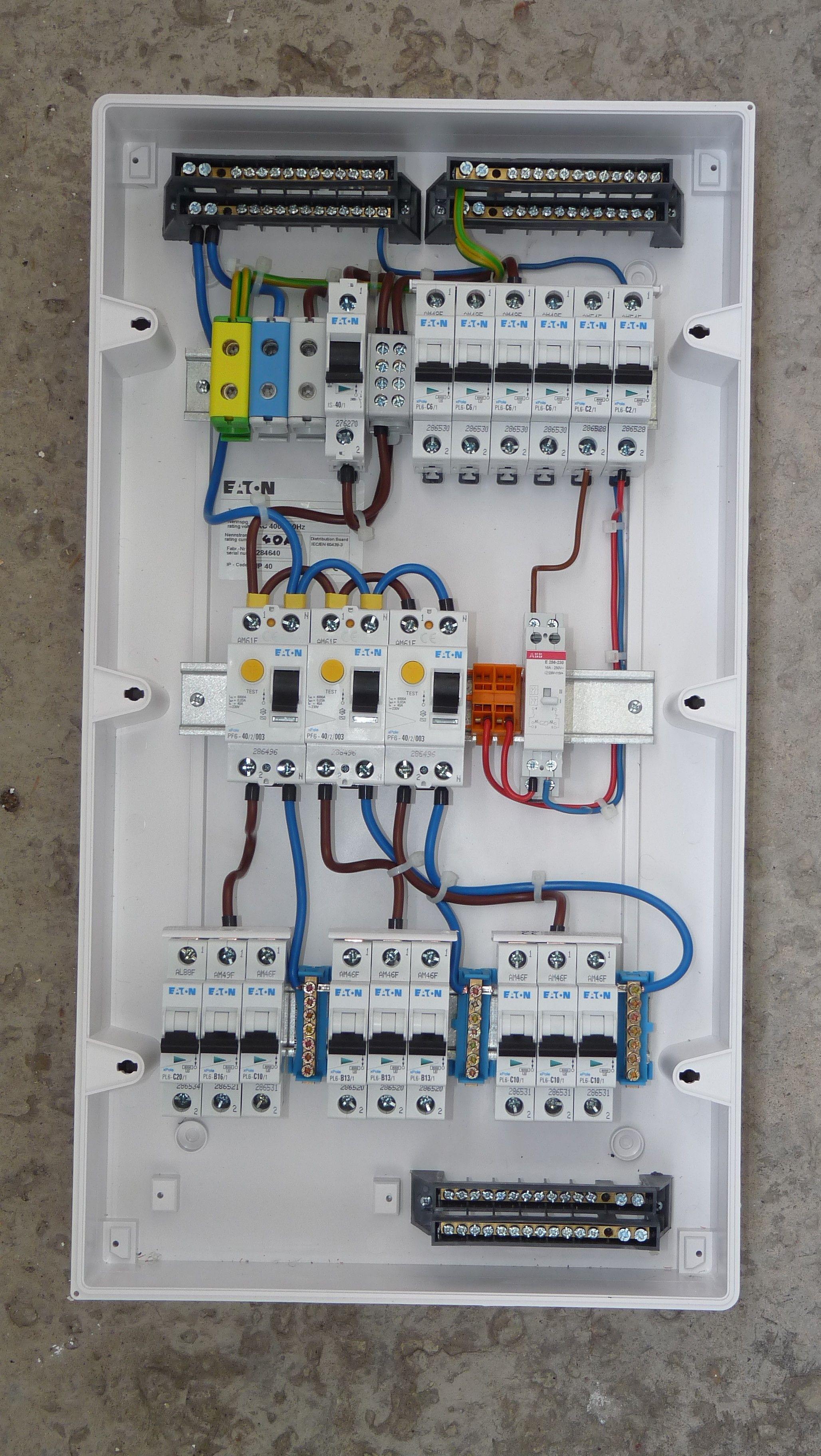 Electrical Consumer Unit Wiring Diagram Elektrisch