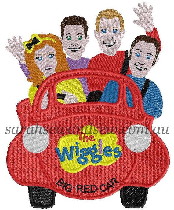 The Wiggles Big Red Car Inspired Embroidery Design Applique