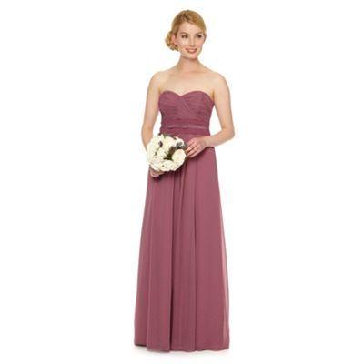 Debut Dark Rose Lace Bandeau Maxi Dress