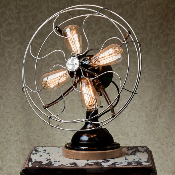 """It feels like I need to separate my pinboards into """"Functional"""" vs. """"Non-Functional"""" HomeDecor. I hope this one is """"functional"""". Gollee, do I wanna see this fan spin its lightbulbs around."""