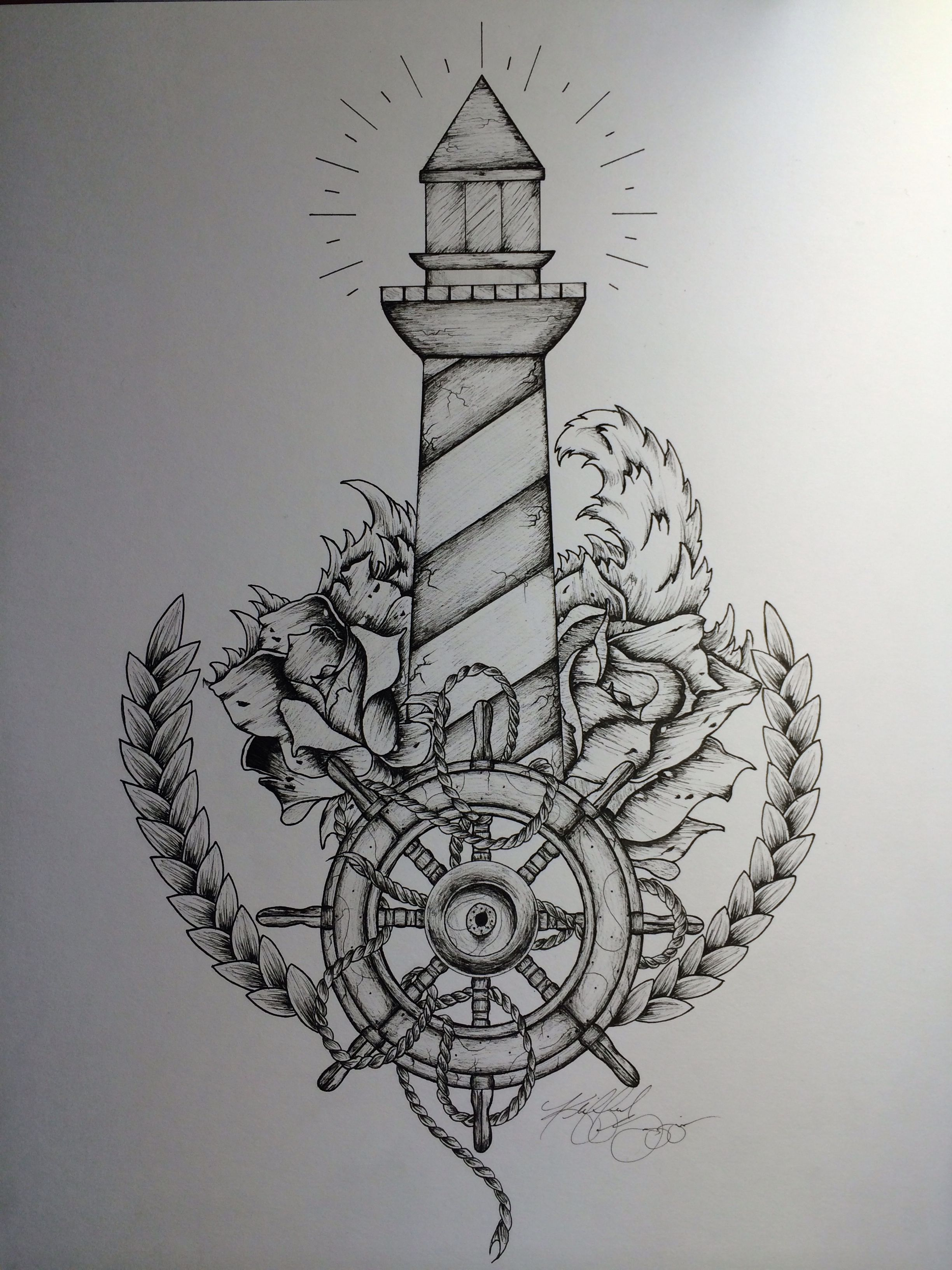"""lighthouse tattoo - """"and"""