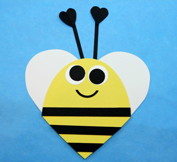 Valentine's Day Heart Shaped Animal Crafts For Kids | Bee ...