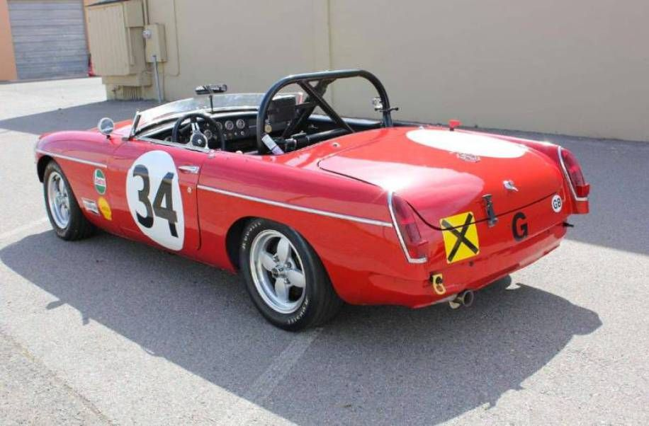 Huffaker MGB Race Car | mg midgets | Pinterest | Cars, Car barn and ...