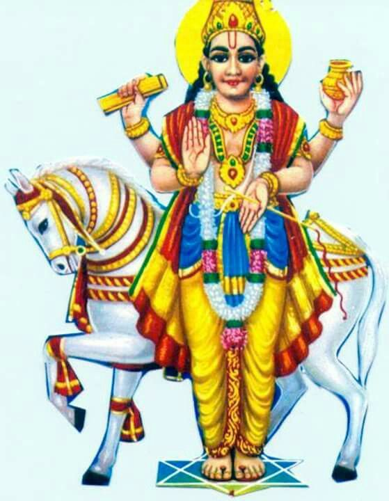 Shukra Devata Lord Of Venus With Images Hindu Art Hindu