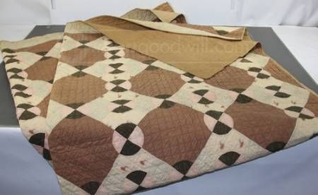 Great Vintage Quilt with possible entirely Hand Stitched ( We were unable to determine conclusively) – All Quilting Is Handstitched; Cotton Batting
