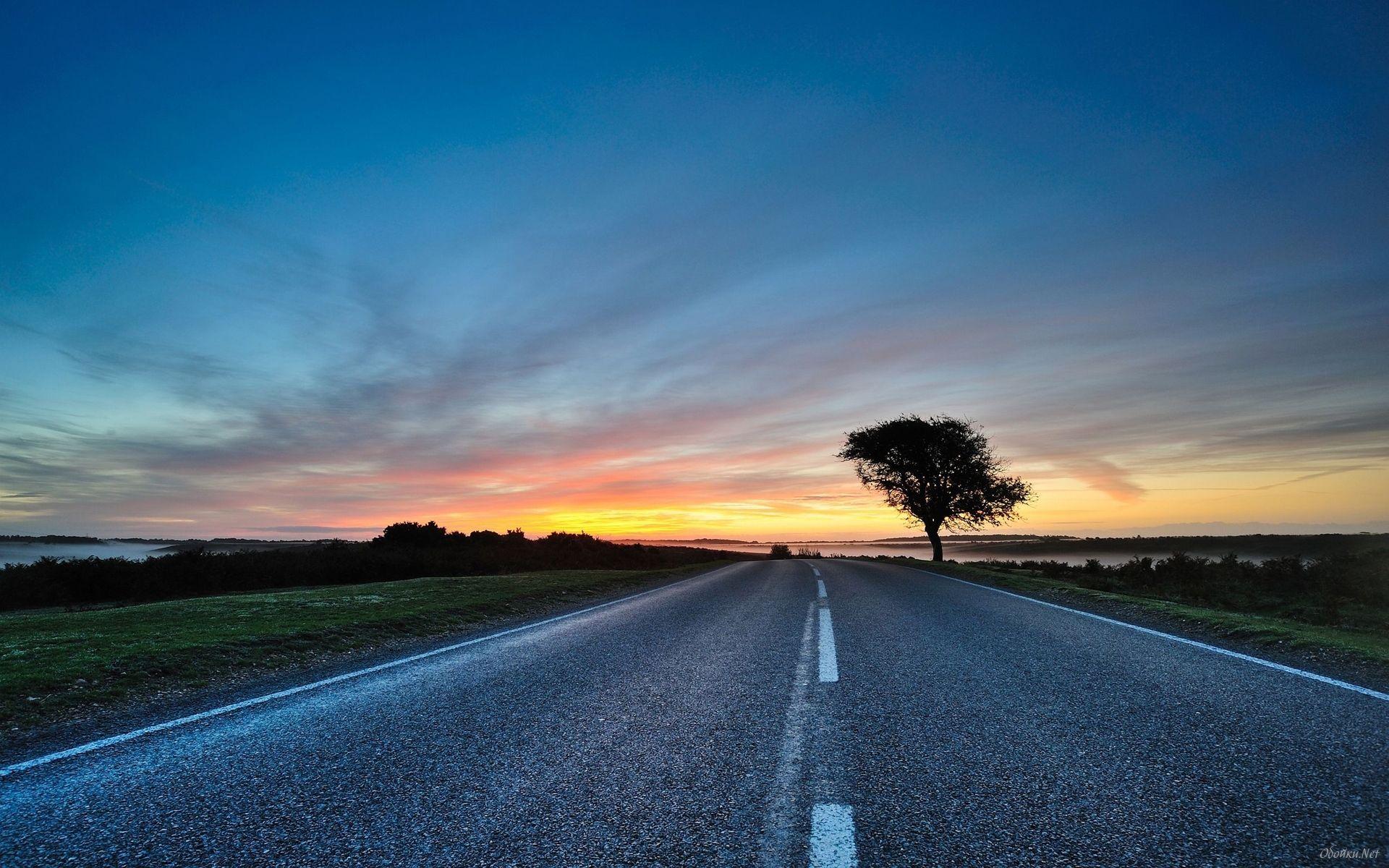 Nancy L Cullen Sunset Road Scenic Wallpaper Sunset Wallpaper Hd wallpaper sunset clouds road hills