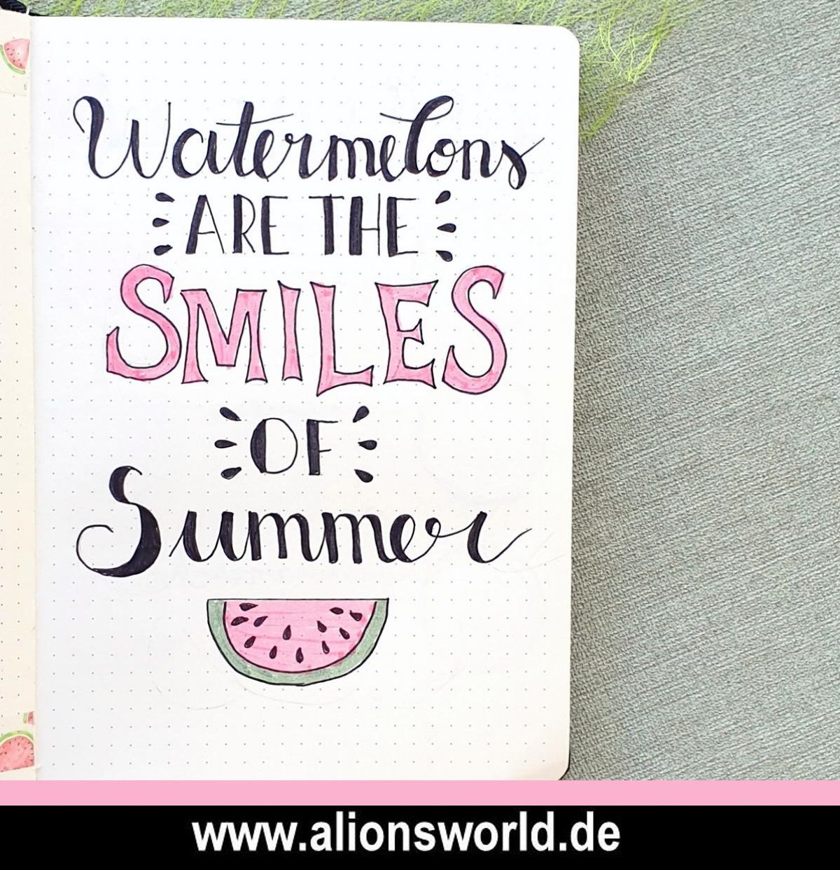 Bullet Journal Setup - Juli 2019 - Wassermelonen / Watermelons
