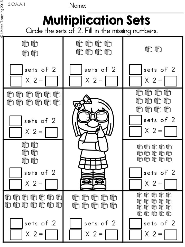 Multiplication Worksheets 2 Times Tables 2nd Grade Math Worksheets Teaching Multiplication 3rd Grade Math Worksheets