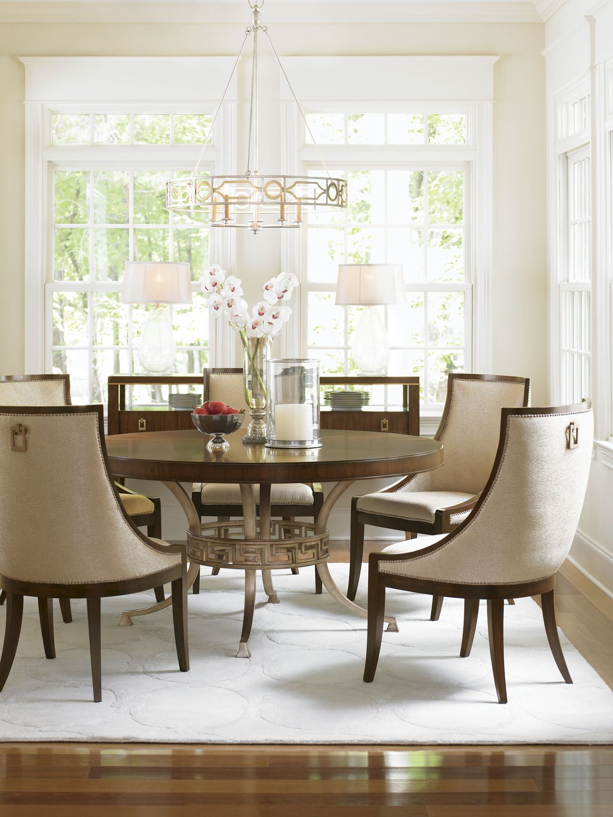 Modern Round Dining Table From Lexington Furnitureu0027s Tower Place Collection