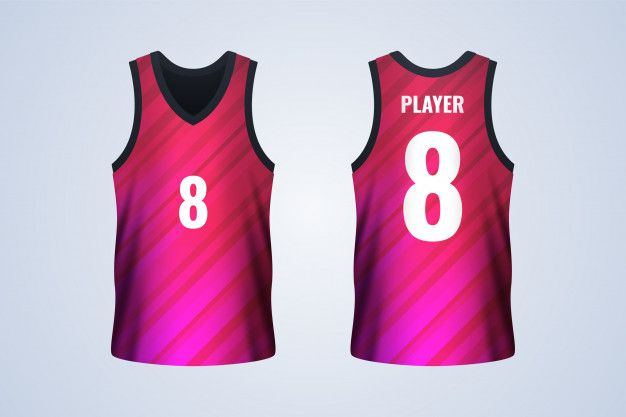 Download Front And Back White Basketball Jersey Template in 2021 ...