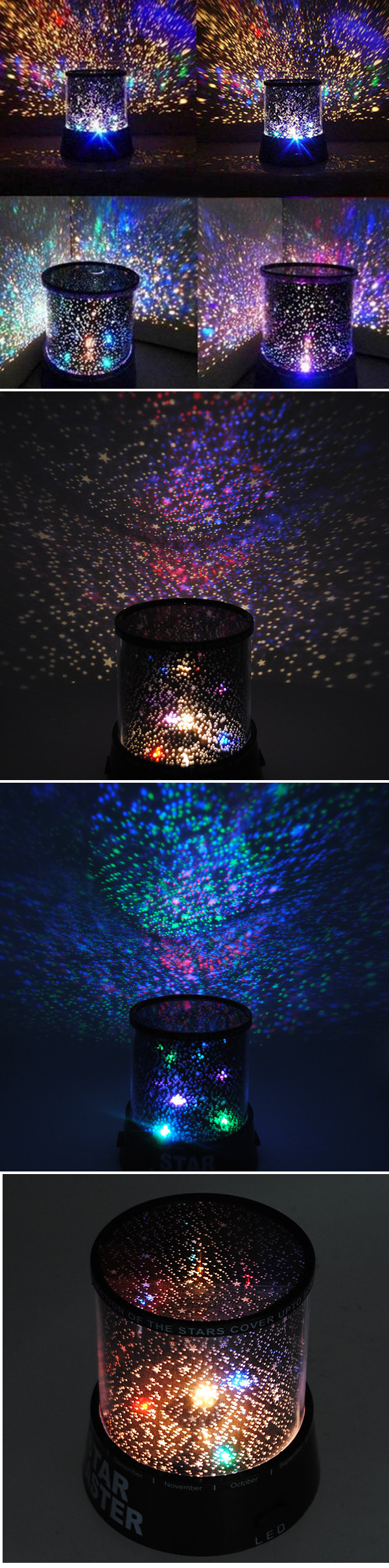 Four seasons star projector lamp - Amazing Laser Projector Lamp Sky Star Cosmos Night Light