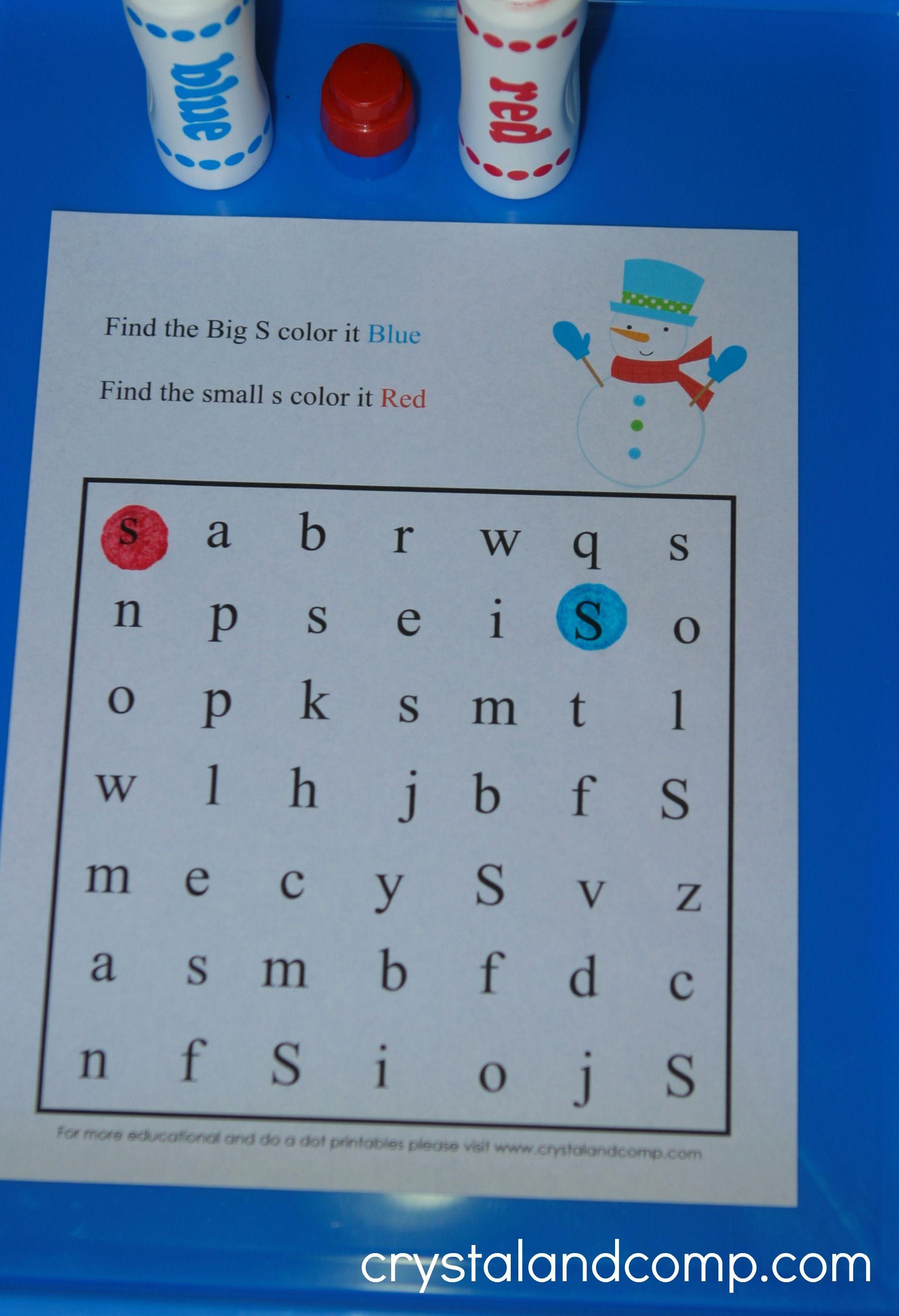 Dot Marker Alphabet Hunt
