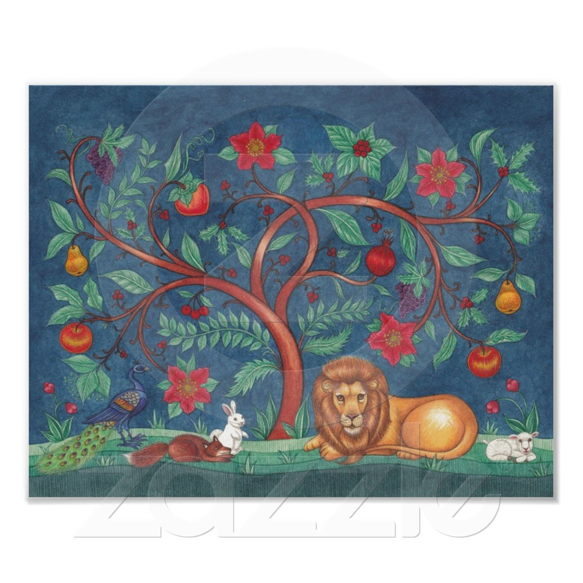 Tree of life poster the lion the lamb from zazzle lion shop christmas tree of life greeting cards created by ckswarriorqueenart kristyandbryce Gallery