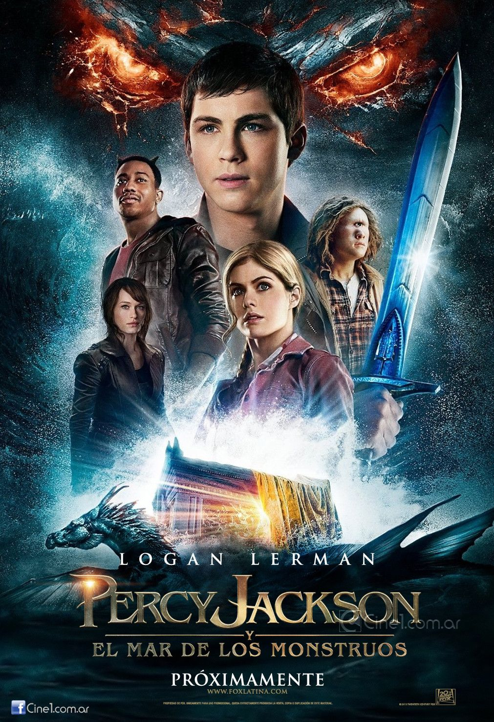 Here s the international poster for Percy Jackson Sea of Monsters
