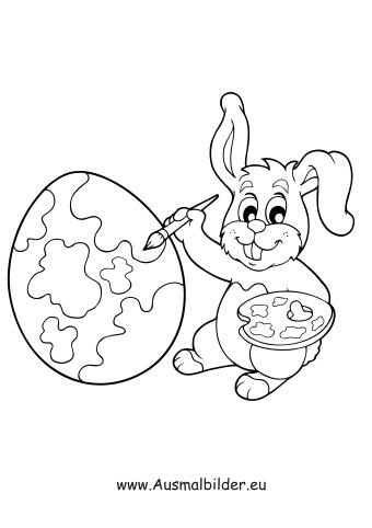Ausmalbild Osterhase Malt Ostereier Bunt Zum Ausmalen Ausmalbilder Malvorlagen Ostern Osterhase Kinde Osterhase Malen Osterhase Ausmalbild Hase