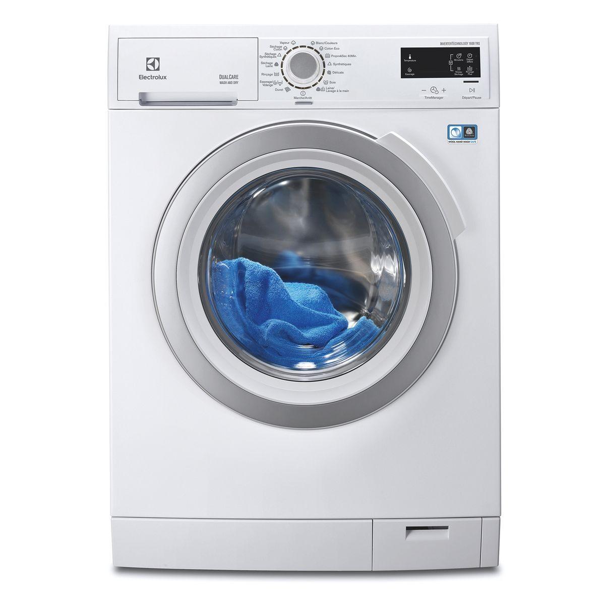 Electrolux Eww1686ws Lave Linge Sechant Lavage 8kg Sechage 4kg 1600tr Min Classe A Lave Linge Sechant Lave Linge Et Machine A Laver Le Linge