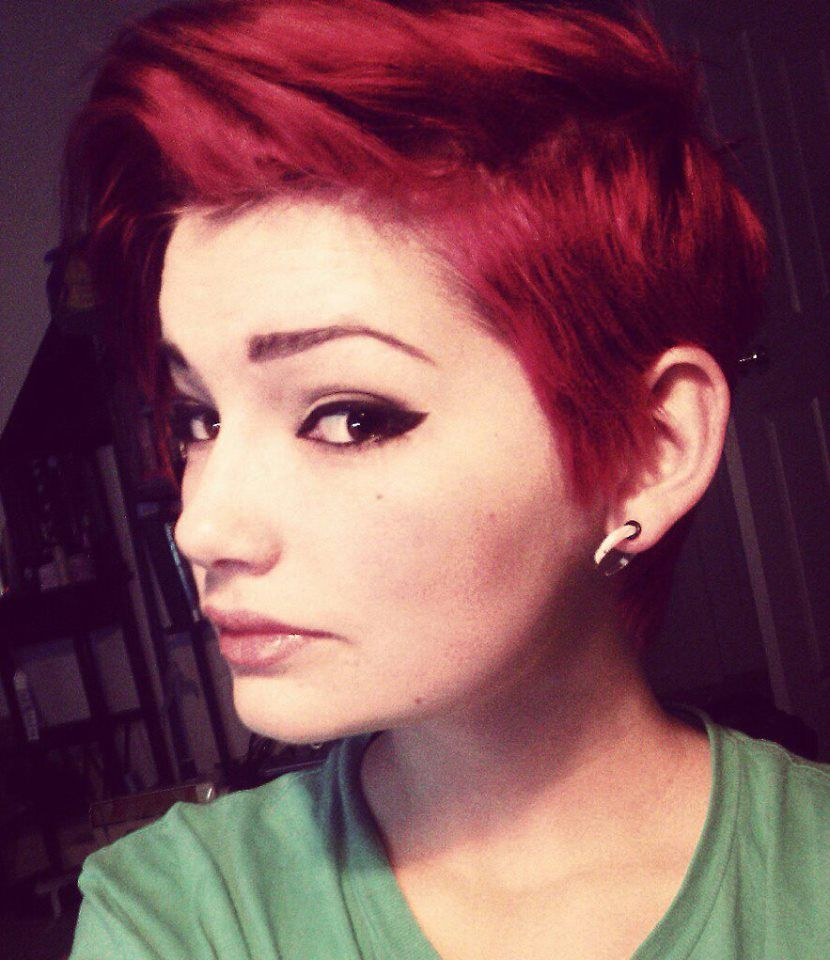 Red tumblr cut pixie photo images