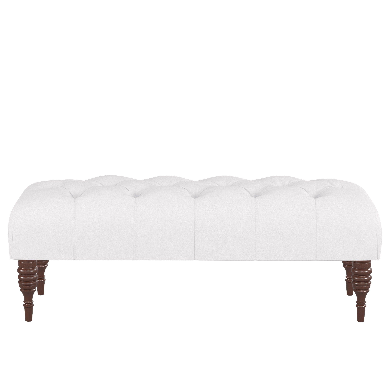 Skyline Furniture Custom Tufted Bench In Velvet
