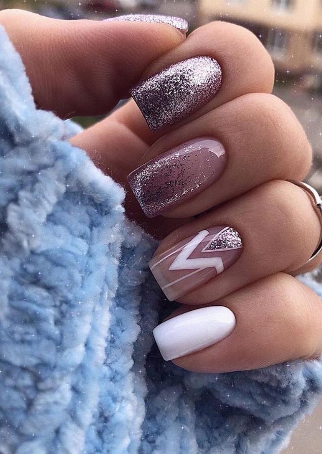Short square nails design, short nails ideas, manicure nails