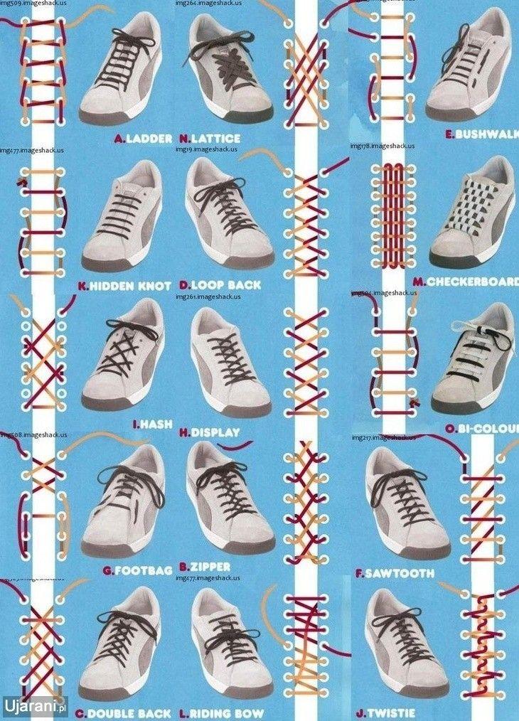 Ujarani Pl Selekcja Najlepszych Obrazkow Z Internetu Ways To Lace Shoes Shoe Lace Patterns How To Tie Shoes