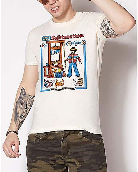 Learn About Subtraction T Shirt Steven Rhodes Epic Shirt Shop In 2021 Epic Shirt Shirt Shop Gamer T Shirt