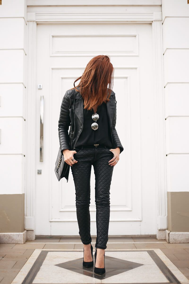Leather Jacket Outfit | B L A C K